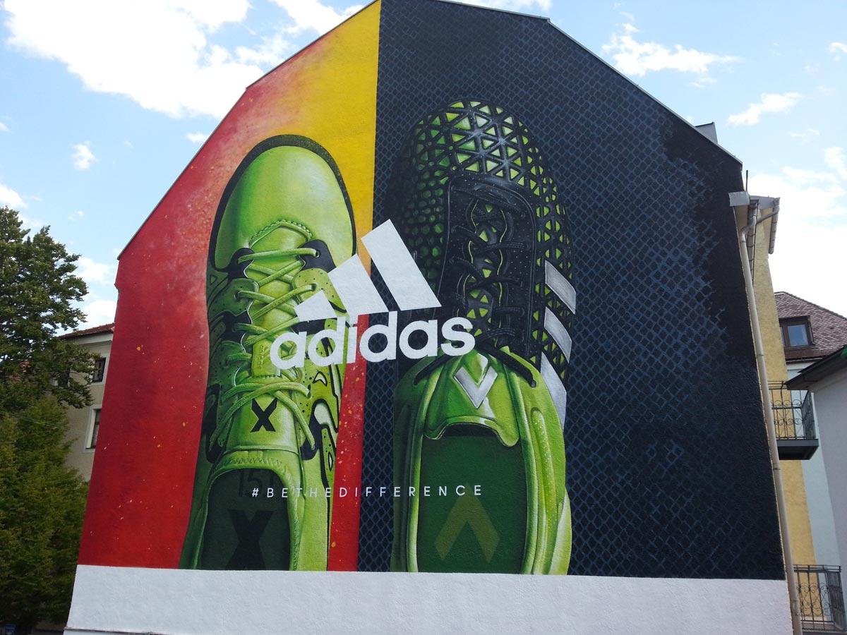 Adidas, Wandgestaltung Berlin