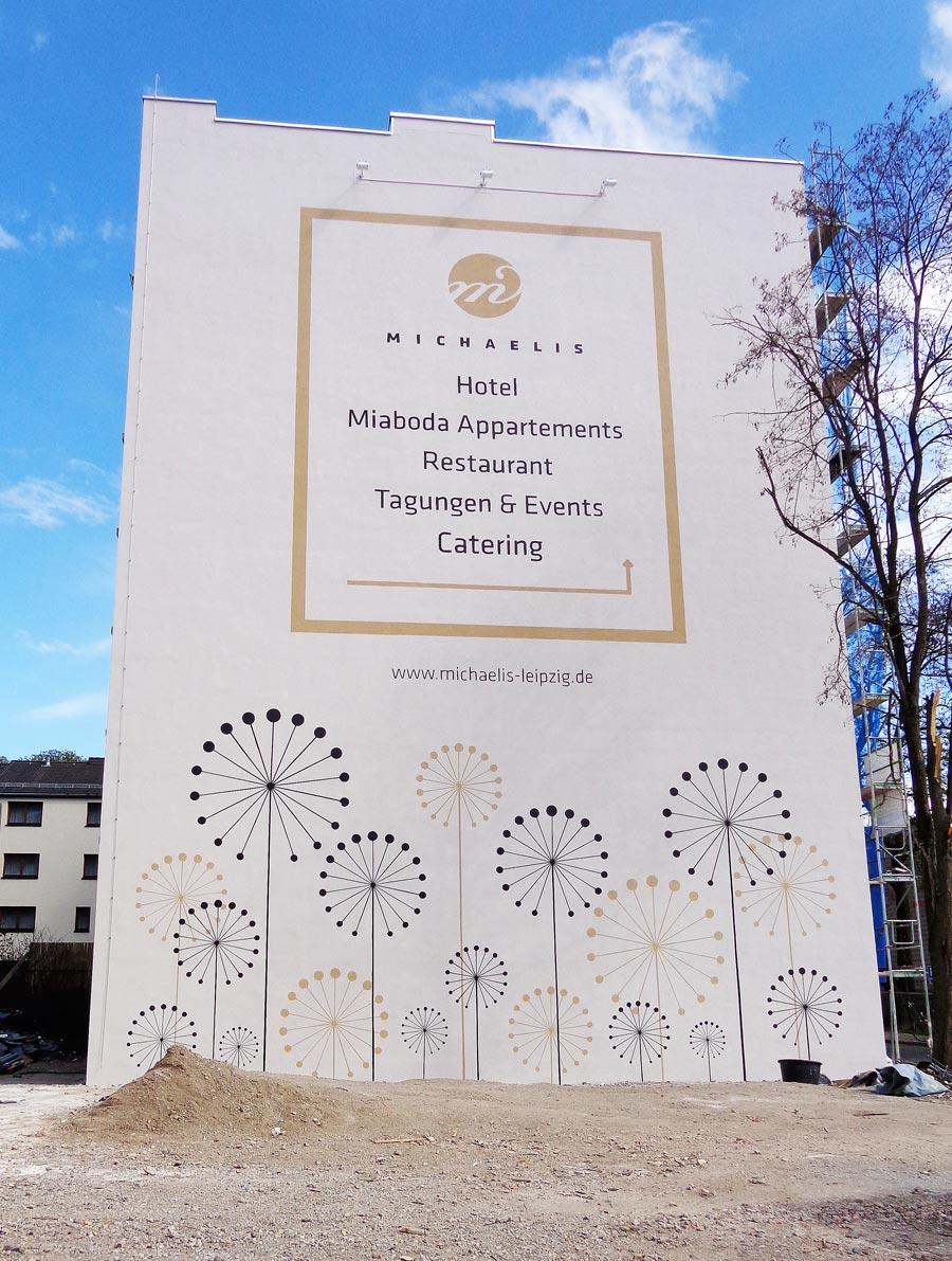 Michaelis Hotel Leipzig, Wandgestaltung