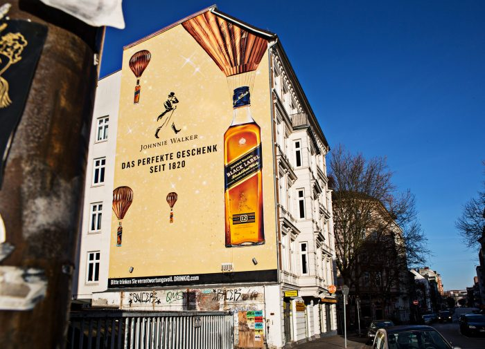 Wandgestaltung Leipzig Johnny Walker