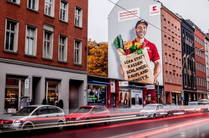 Wandgestaltung Leipzig Kaufland