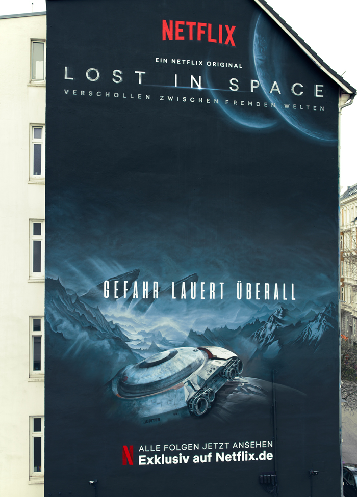 Wandgestaltung Leipzig Netflix Lost in Space