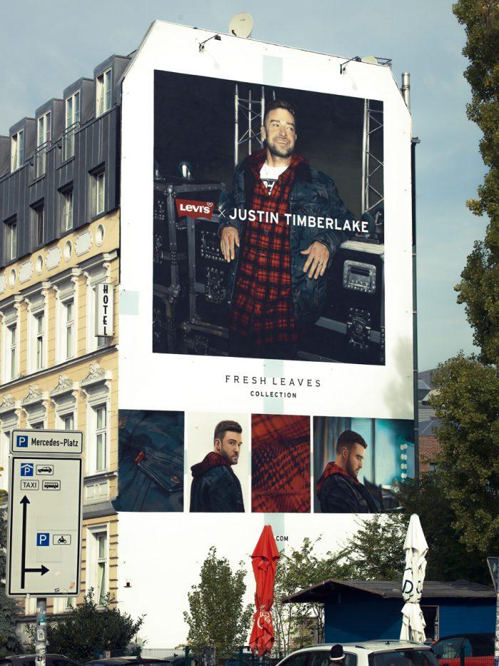 Wandgestaltung Leipzig Levis Justin Timberlake
