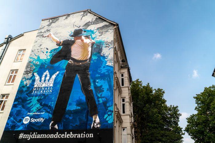 Wandgestaltung Leipzig Spotify Michael Jackson